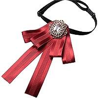 Mujeres Arco Boutonniere Banquete Carrera No Manual Decoración Broche Actuación Estudiante Pajarita Uniforme Escolar Negocios Collar,Red-OneSize