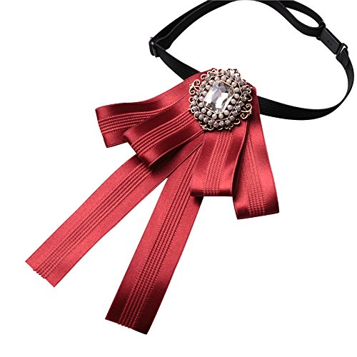 Frauen Bow Boutonniere Bankett Karriere Bürokratie Dekoration Brosche Durchführen Lernender Fliege Schuluniform Geschäftsleben Kragen,Red-OneSize