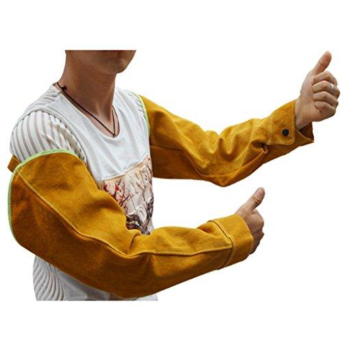 Full Rindsleder Schweißen Armband Schweißen Schutz Hülse Hülse Schweißer Schweißen Anti-Dorn Pflege Ärmel Arbeit Versicherung tragen Leder Hülse Ärmel