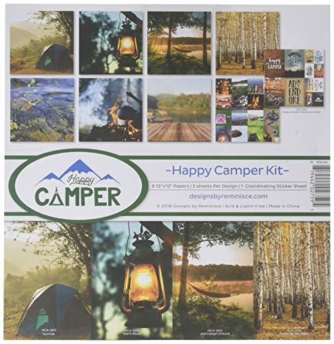 Reminisce (REMBC) HCA-200 Happy Camper Scrapbook Collection Kit mehrfarbig -