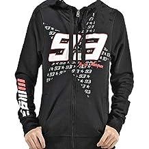 Marc Marquez 93 Logo MotoGP mujeres sudadera con capucha negra oficial Nuevo