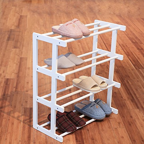 Flashing- Multi - couche en bois massif Chaussures Racks Chaussures Simple Simple Maison Moderne européenne Incorporated Assemblée Slipper rack ( Couleur : Blanc )