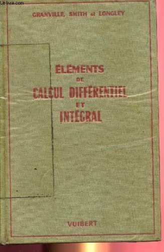 ELEMENTS DE CALCUL DIFFERENTIEL ET INTEGRAL