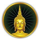 Thai Sitting Buddha Statue Label Auto-Dekor-Vinylaufkleber 12 X 12 cm