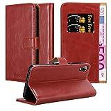 Cadorabo Hülle für HTC Desire 10 Lifestyle/Desire 825 - Hülle in Wein ROT - Handyhülle im Luxury Design mit Kartenfach & Standfunktion - Case Cover Schutzhülle Etui Tasche Book