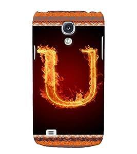 Fuson 3D Printed Alphabet U Designer back case cover for Samsung Galaxy S4 Mini - D4211