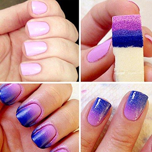 Fulltime® Nail Art Stamping Éponges modèle polonais Transfert Manucure Outil bricolage