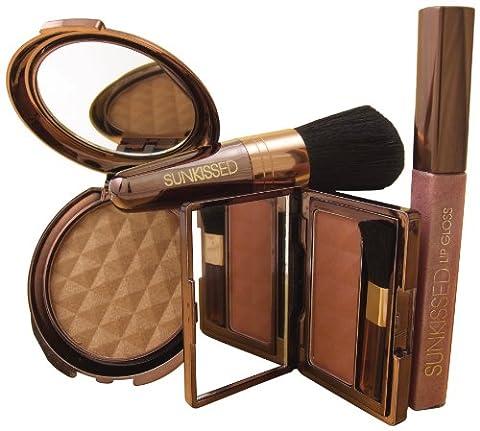 Sunkissed Sunlight Bronze Geschenkset - Bronzing Powder + Blusher + Lip gloss + Bronzing Brush