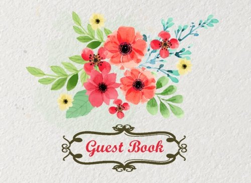 y Guest Book,Baby Shower,Bridal Shower,Birthday,Wedding and Anniversary Home Office Flower Design (Events & Party Guest Book, Band 4) (Jasmine Party Supplies)