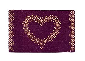 Purple heart coir door mat kitchen home for Door mats amazon