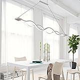 Lonfenner Después de mesa lámpara lámpara led minimalista moderna onda creativa carácter comedor sala de estar comedor dormitorio lámparas candelabros,Pequeño 100 * 4cm