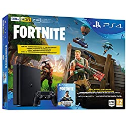 PS4 CONSOLA SLIM 500GB + FORTNITE + VOUCHER - REEDICION