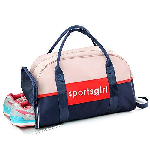 Uniuooi Sporttasche,Schwimmtasche, mit Trennung von nassen und trockenen Sachen, wasserdicht, mit Schuhfach, für Frauen, damen, mehrfarbig, Large