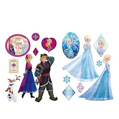 Wandsticker 45x65cm PREMIUM Wandtattoo Wandaufkleber Sticker - Disney Frozen Eiskönigin Schneemann Olaf Elsa Anna Kindersticker Mädchen bunt - no.4704 (Mädchen Disney Für Wandsticker)