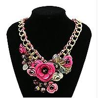 Statement Necklace For Women Crystal Big Chunky Bubble Bib Pendant Cheap Sale Jewellery