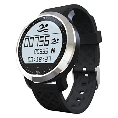 Hunpta Sport wasserdicht Smartwatch Tracker Fitness Schlaf Herzfrequenz-Messgerät (Black)