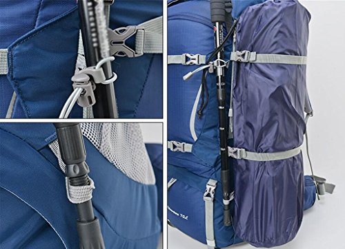 HWLXBB Outdoor Bergsteigen Tasche und Frauen 80L Wasserdichte Mehrzweck-Bergsteigen Tasche Wandern Camping Bergsteigen Freizeit Rucksack Rucksack 5*