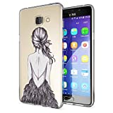 NALIA Handyhülle für Samsung Galaxy A5 2016, Slim Silikon Motiv Case Hülle Cover Crystal Schutzhülle Dünn Durchsichtig Etui Handy-Tasche Backcover Transparent Phone Bumper, Designs:Bird Princess