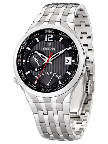 Festina Men's Quartz Watch Trend Retrograde F6761/7 with Metal Strap