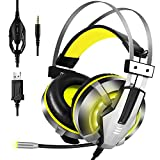 EKSA Stereo Gaming Headset for PS4, PC, Xbox One Controller, Noise Cancelling Over
