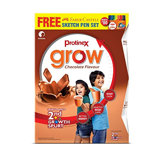 Protinex Grow - 400 g (Chocolate) with Free (Faber Castell...