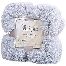 GODGETS Blanket Manta Microfibra Artificial Cubierta de Piel para sofá Cama Ligeramente mullida Suave y Cálido