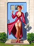 Posterlounge Forex 100 x 130 cm: Caught in The Door de Art Frahm