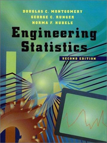 Engineering Statistics by Douglas C. Montgomery (2000-10-24)