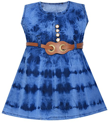 Mpc Cute Fashion Baby Girl's Denim Dresses For (12-18 Months)