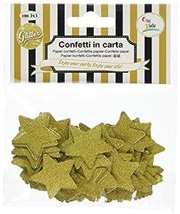 GiviItalia 45515 Star - Confeti con purpurina, 3 cm, color dorado