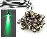 15x LED Lichtpunkt Sternenhimmel Aluminium IP68 Wasserdicht Verbrauch 0,2 Watt pro Lichtpunkt dimmbar Einbauspot Schraube Licht Punkt Deckenleuchte Deko Lichtfarbe : Grün