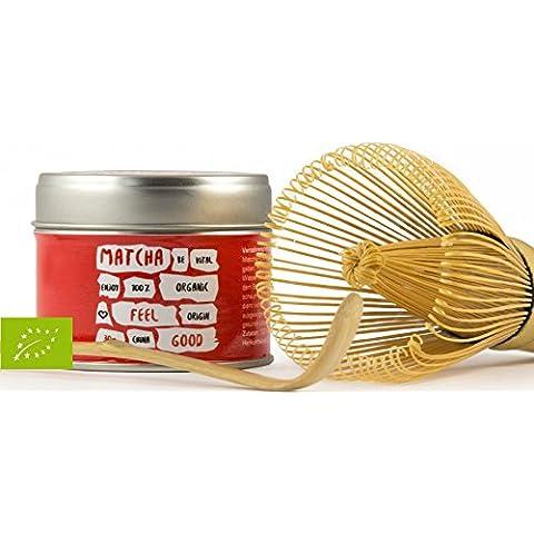 Feel Good Matcha Bio Tè Vegavero | bella confezione salva-aroma