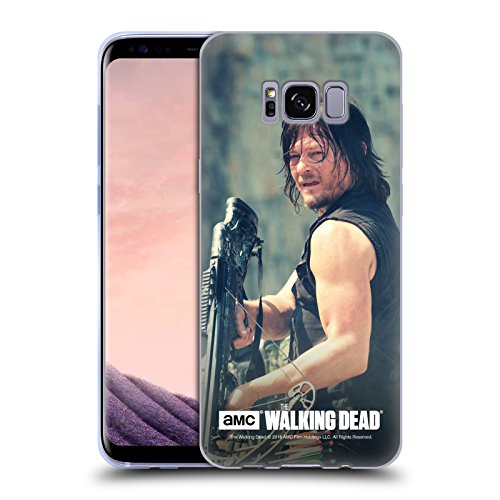 Head Case Designs Offizielle AMC The Walking Dead Schütze Daryl Dixon Soft Gel Hülle für Samsung Galaxy S8
