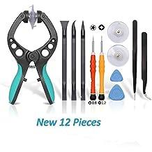 Kit de Herramienta Profesional con Destornillador de Precisión para la Reparación de Moviles iPhone, Samsung, Xiaomi, Huawei...(12 piezas)