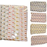 Rio Pure Cotton Baby Cloth Swaddle - 0-12 Months - Multi Color Pack of 4 breathable fabric