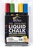 Rainbow - Liquid Chalk - 5 Colour 5mm Bullet Tip