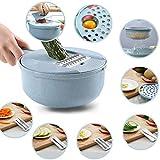 verdure slicer-adjustable mandolina slicer-kitchen cutter, 8in 1julienne affettatrice con contenitore e filtro basket, verdura, grattugia per formaggio, patate, cipolla, zucchine