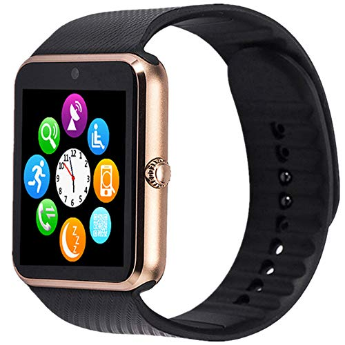Smart Watches,Touch Screen Sport Wrist Watch Phone for Android IOS Pedometer Smartwatch with SIM Card Slot Camera Compatible Samsung Men Women