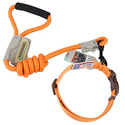 Durable Dog Leash Harness for Dogs, Heavy Duty and Adjustable Dog Harness Dog Training Leash Collar for Dogs (L, Orange)