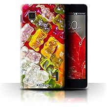Carcasa/Funda STUFF4 dura para el LG Optimus G E975 / serie: Confitería - Osos de Goma