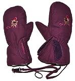 Unbekannt Handschuhe mit langem Schaft + Klettverschluß lila / violett - Größe: 4 bis 5 Jahre - Thermo gefüttert Thermohandschuh - Fausthandschuh Handschuh wasserdicht ..