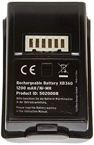 Battery Pack, schwarz - Akku mit USB-Ladekabel - [Xbox One, Xbox 360]