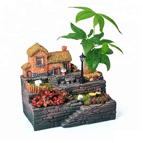 Homyl Support Terrarium Pot Plante En Fer Vase Suspendu Pour Micro