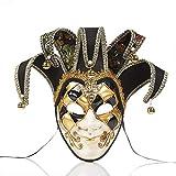 zchg - Máscara antiedad para Fiestas de Disfraces navideñas, diseño de Venecia de Italia Negro Negro