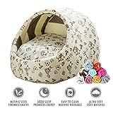 ubest Katzenbett mit Decke, Comfort Kuschelhöhle Hundesofa, Kleintiere Hundebett, Größe M, 44 x 41 x 30cm, Typ 9