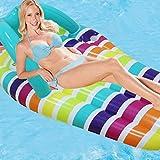 Zapatillas pastel de juguete sillón flotante Mat caja de seguridad duradera piscina flotante cama sesión de fotos al aire libre con tubo inflable verano inflable camas flotantes hombres color femenino