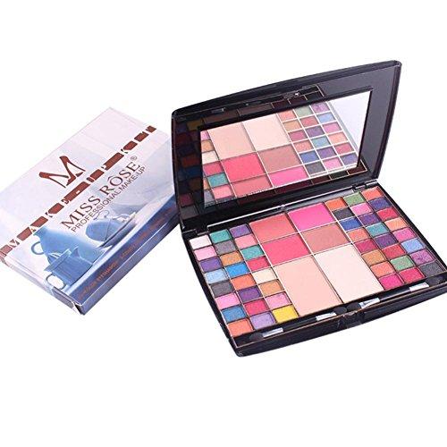 LCLrute FRÄULEIN ROSE 54 Farbe Perle Glitter Lidschatten Pulver Palette Matt Lidschatten Kosmetik Make-Up (A) (Palette Rose)