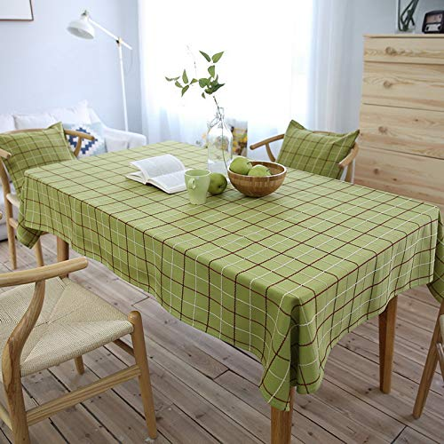 SearchI Manteles Antimanchas para Mesa Rectangular de Bar Comedor Cocina de Casa y Jardín,Color Verde, 140X140cm