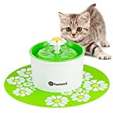 Hommii Pet Drinking Water Fountain for Cats Dogs Drinking Bowl with Replacement Filter, Flower Style, Automatic Electric, Water Capacity 1.6L