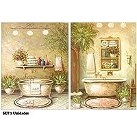 Cuadro de baño , placa de madera de decoracion bañeras